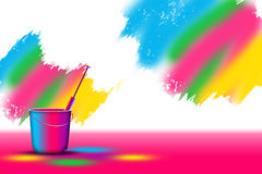 Holi Background. Water gun in a bucket of color on holi vector illustration
