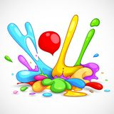 Holi Background. Illustration of colorful color splash in Holi background Stock Photos