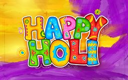 Holi background. Illustration of colorful Holi background in Indian kitsch style Royalty Free Stock Images