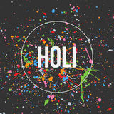 Holi Banner Design for Indian Festival Royalty Free Stock Photos