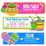 Holi banner for sale and promotion Stock Photography