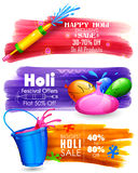 Holi banner for sale and promotion Stock Photo