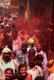 Holi beröm på Barsana Royaltyfria Foton