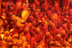 Holi Celebration at Barsana Royalty Free Stock Photo