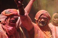 Holi Celebration at Barsana Royalty Free Stock Image