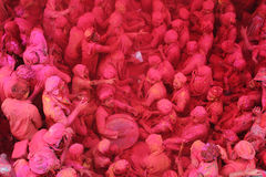 Holi Celebration at Barsana Stock Image
