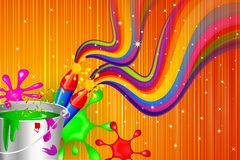 Holi Celebration Design Stock Photo