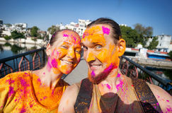 Holi celebration in India Royalty Free Stock Photography
