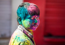 Holi celebration in India Stock Photos