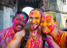 Holi celebration in India Royalty Free Stock Photos