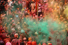 Holi Celebration at Nandgaon Royalty Free Stock Image