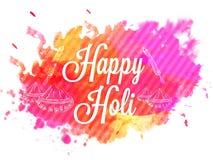 Holi celebration Poster or Banner or Flyer. Stock Photography