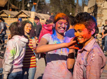 Holi celebrations Stock Photography