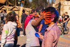 Holi celebrations Stock Photo