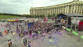 Holi Color festival - aerial video stock video