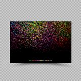 Holi color paper card billboard poster. Holi colors poster banner billboard paper card template. Phagwa festival of paints color confetti tinsel sequin design Stock Photography