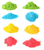Holi color set Stock Images
