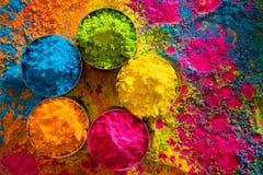 Holi colora l'estratto Immagini Stock