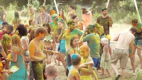 Holi colorea festival metrajes