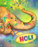 Holi colorful illustration. Holi background. Holi . Traditional Indian festival Holi. Bengali New Year. Holiday of spring. Holi colorful illustration. Holi Stock Photography