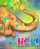 Holi colorful illustration. Holi background. Holi . Traditional Indian festival Holi. Bengali New Year. Holiday of spring. Holi colorful illustration. Holi Stock Photos