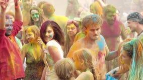 Holi Colors Festival stock video footage