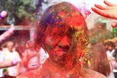 Holi, das Festival der Farbe Stockfotos
