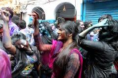 Holi degli indù Fotografie Stock Libere da Diritti