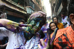 Holi del festival di indù Fotografia Stock Libera da Diritti