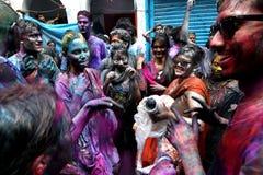 Holi del festival di indù Fotografia Stock