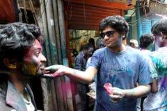 Holi del festival di indù Fotografie Stock Libere da Diritti
