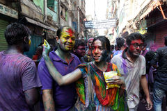 Holi des Hindu-Festivals Stockfotografie
