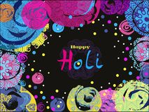 Holi design poster. Happy Holi - festival of colors.Traditional Indian festival Holi. Bengali New Year.Template for festive banner, poster. Holiday of spring Royalty Free Stock Photography