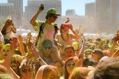 Holi ein Festival Stockfoto