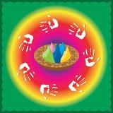 Holi el festival de colores en el resorte (también calle Imagen de archivo