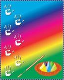 Holi el festival de colores en el resorte (también calle Fotografía de archivo libre de regalías