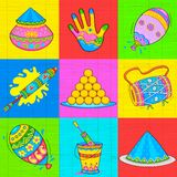Holi element in Indian kitsch style Royalty Free Stock Image