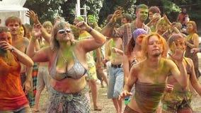 Holi färgar festival stock video