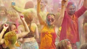 Holi färgar festival lager videofilmer