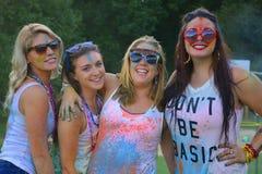 Holi färgfestival 2014, Riverhead NY Royaltyfri Foto