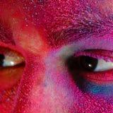 Holi-Farben-Mode-Konzept Stockfotos