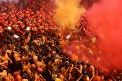 Holi - Farbfestival in Indien Stockbild
