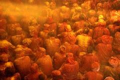 Holi-Feier bei Barsana Lizenzfreie Stockfotos