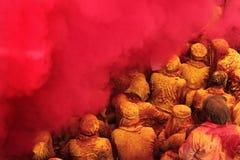 Holi-Feier bei Barsana Stockbild