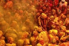 Holi-Feier bei Barsana Lizenzfreies Stockbild