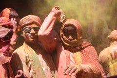 Holi-Feier bei Barsana Lizenzfreie Stockbilder