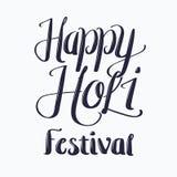 Holi-Feier-Festival-Beschriftung Stockfoto
