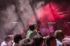 Holi-Feier, Vrindavan und Mathura, Indien Lizenzfreie Stockfotos