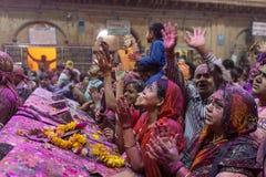 Holi-Feier, Vrindavan und Mathura, Indien Stockfotos