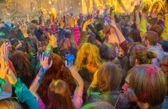 Holi-Feiern Stockbild